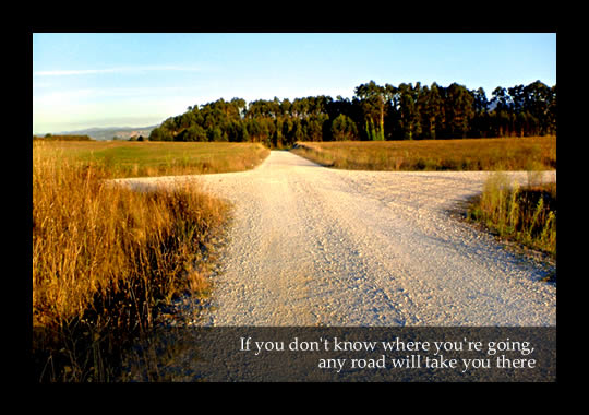 If you don't know where you're going, any road will take you there